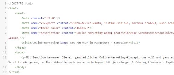HTML-Meta Tags